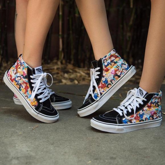 e7a7d5a9955aba Vans Sk8 Hi Slim Disney Princess Sneakers